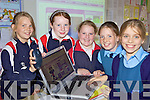 VIRTUAL CLASSROOM: Pupils from the Presentation Convent national school in Listowel who are using new virtual learning in the classroom and at home, l-r: Jane Downey, Olivia Quinlan, Mairead Brosnan, Aisling Keane, Mary Keane.