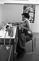 Genova 20 Luglio 2001.G8.Scuola Diaz, giovane del media center