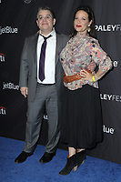 """LOS ANGELES - MAR 15:  Patton Oswalt, Meredieth Salenger at the PaleyFest - """"The Marvelous Mrs. Maisel"""" at the Dolby Theater on March 15, 2019 in Los Angeles, CA"""