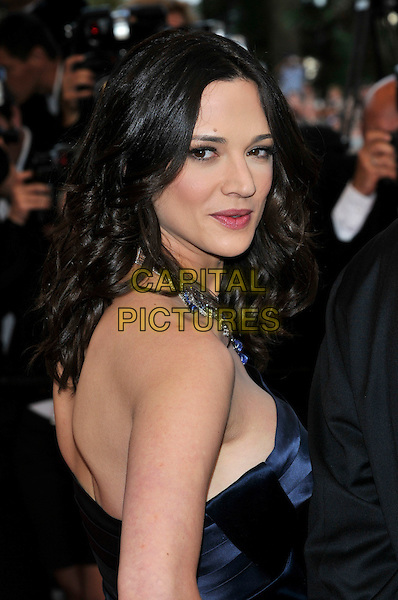 ASIA ARGENTO.'Vengance' screening.62nd International Cannes Film Festival.Cannes, France. 17th May 2009.portrait headshot back over shoulder blue .CAP/PL.©Phil Loftus/Capital Pictures