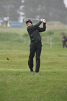 Jamie Donaldson playing his second shot from the rough on the 1st on day 3 of the 3 Irish open in Co Louth Golf Club Baltray..Pic Fran Caffrey/golffile.ie