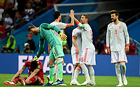 KAZAN - RUSIA, 20-06-2018: Jugadores de España celebran después del partido de la primera fase, Grupo B, entre RI de Irán y España por la Copa Mundial de la FIFA Rusia 2018 jugado en el estadio Kazan Arena en Kazán, Rusia. / Players of Spain celebrate after the match between IR Iran and Spain of the first phase, Group B, for the FIFA World Cup Russia 2018 played at Kazan Arena stadium in Kazan, Russia. Photo: VizzorImage / Julian Medina / Cont