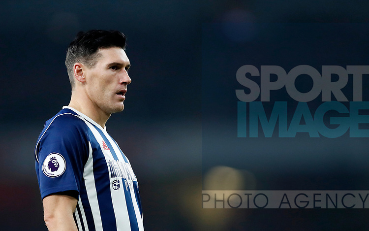 West Brom's Gareth Barry in action during the premier league match at the Emirates Stadium, London. Picture date 25th September 2017. Picture credit should read: David Klein/Sportimage