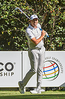 Sergio Garcia (ESP) watches his tee shot on 3 during round 1 of the World Golf Championships, Mexico, Club De Golf Chapultepec, Mexico City, Mexico. 2/21/2019.<br /> Picture: Golffile | Ken Murray<br /> <br /> <br /> All photo usage must carry mandatory copyright credit (© Golffile | Ken Murray)