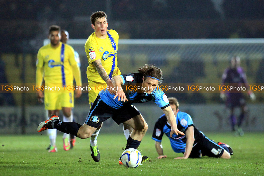 Wycombe's Player/Manager Gareth Ainsworth earns a free-kick for his team - Torquay United vs Wycombe Wanderers - NPower League Two Football at Plainmoor, Torquay, Devon - 26/02/13 - MANDATORY CREDIT: Paul Dennis/TGSPHOTO - Self billing applies where appropriate - 0845 094 6026 - contact@tgsphoto.co.uk - NO UNPAID USE.