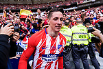 #9 Fernando Torres of Atletico de Madrid celebrating his score during the La Liga match between Atletico Madrid and Eibar at Wanda Metropolitano Stadium on May 20, 2018 in Madrid, Spain. Photo by Diego Souto / Power Sport Images