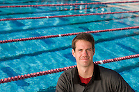 STANFORD, CA - JUNE 4:  Frederick Dewey poses for a portrait at the Avery Aquatic Center on June 4, 2008 in Stanford, California.