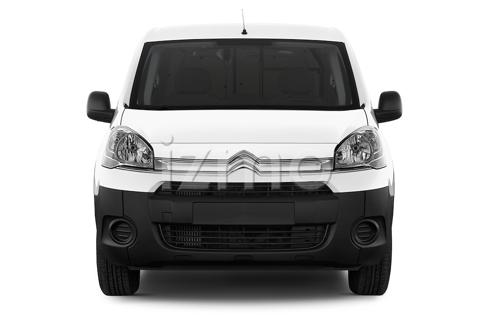 Car photography straight front view of a 2015 Citroen BERLINGO 1.6 VT 4 Door Car Van Front View
