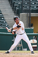 A.J. Ramirez (10) of the Southern California Trojans bats during a game against the Oakland Grizzlies at Dedeaux Field on February 21, 2015 in Los Angeles, California. Southern California defeated Oakland, 11-1. (Larry Goren/Four Seam Images)