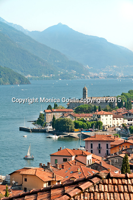 Gravedona, a town at the northern end of Lake Como, Italy