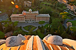 Looking down at the Palace of the Governorate from St. Peter's Basilica dome