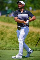 Alexander Levy (FRA) watches his tee shot on 12 during Thursday's round 1 of the 117th U.S. Open, at Erin Hills, Erin, Wisconsin. 6/15/2017.<br /> Picture: Golffile | Ken Murray<br /> <br /> <br /> All photo usage must carry mandatory copyright credit (&copy; Golffile | Ken Murray)