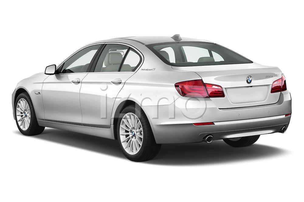 Rear three quarter view of a 2013 Bmw SERIES 5 ActiveHybrid 5 4 Door Sedan 2WD