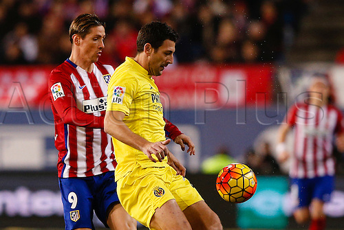 21.02.2016. Madrid, Spain.  Fernando Torres (9) Atletico de Madrid during La Liga football match between Atletico de Madrid and Villerreal CF at the Vicente Calderon stadium in Madrid, Spain, February 21, 2016 .