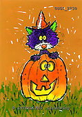 GIORDANO, CUTE ANIMALS, LUSTIGE TIERE, ANIMALITOS DIVERTIDOS, Halloween, paintings+++++,USGI2230,#AC#