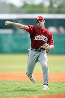 February 22, 2009:  Second baseman Tyler Rogers (1) of Indiana University during the Big East-Big Ten Challenge at Naimoli Complex in St. Petersburg, FL.  Photo by:  Mike Janes/Four Seam Images