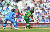 June 18th 2017, The Kia Oval, London, England;  ICC Champions Trophy Cricket Final; India versus Pakistan; Azhar Ali of Pakistan hits a straight six
