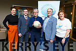 Marisa Reidy, Jonathan Collins, Billy Keane, Dermot Crowley and Philomena Stack at the launch of the Recovery Haven's Sports panel night fundraiser in the Ballyroe Heights Hotel on Tuesday.