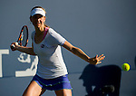 Mona Barthel (GER) during her quarterfinal match against Varvara Lepchenko (USA) at the Bank of the West Classic in Stanford, CA on August 7, 2015. Barthel fell to Lepchenko by 67(3) 62 63