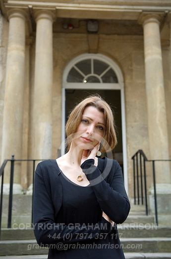 Elif Shafak at Christ Church during the Sunday Times Oxford Literary Festival, UK, 24 March - 1 April 2012. ..PHOTO COPYRIGHT GRAHAM HARRISON .graham@grahamharrison.com.+44 (0) 7974 357 117.Moral rights asserted.