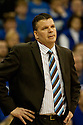 18 February 2012: Greg McDermott head coach of the Creighton Bluejays during the game against Long Beach State 49ers in the Bracket Busters game at the CenturyLink Center in Omaha, Nebraska. Creighton defeated Long Beach State 81 to 79.
