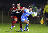 Boyds, MD - Friday Sept. 30, 2016: Ali Krieger, Stephanie McCaffrey during a National Women's Soccer League (NWSL) semi-finals match between the Washington Spirit and the Chicago Red Stars at Maureen Hendricks Field, Maryland SoccerPlex. The Washington Spirit won 2-1 in overtime.