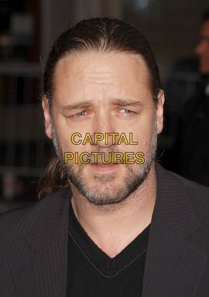 "RUSSELL CROWE.""Revolutionary Road"" Los Angeles Premiere held at Mann's Village Theatre, Westwood, California, USA..December 15th, 2008. headshot portrait beard facial hair  .CAP/ADM/CH.©Charles Harris/AdMedia/Capital Pictures"