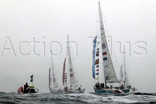 04.03.2012.  Qingdao, CHINA; The Clipper 11-12 Race fleet starts its longest race of the 40,000-mile challenge as they set off from Qingdao, China for Oakland, San Francisco Bay.