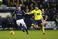 Blackburn Rovers' Bradley Dack and Millwall's Ryan Tunnicliffe<br /> <br /> Photographer Rob Newell/CameraSport<br /> <br /> The EFL Sky Bet Championship - Millwall v Blackburn Rovers - Saturday 12th January 2019 - The Den - London<br /> <br /> World Copyright &copy; 2019 CameraSport. All rights reserved. 43 Linden Ave. Countesthorpe. Leicester. England. LE8 5PG - Tel: +44 (0) 116 277 4147 - admin@camerasport.com - www.camerasport.com
