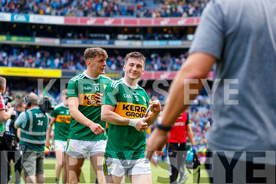 David Clifford, Kerry and Paul Murphy, Kerry  after the GAA Football All-Ireland Senior Championship Final match between Kerry and Dublin at Croke Park in Dublin on Sunday.