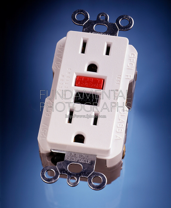 GROUND FAULT CIRCUIT INTERRUPTER<br /> GFI Outlet<br /> The interrupter detects current leakage flowing to the ground. When the sensor detects 4-6 milliamps of leakage the circuit cuts off power at the outlet.