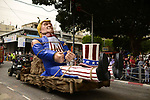 float of U.S. President Donald Trump during a march in a Purim parade in the town of Holon near Tel Aviv, Israel, Sunday, March 12, 2017. The Jewish holiday of Purim celebrates the Jews' salvation from genocide in ancient Persia, as recounted in the Scroll of Esther.  Photo by: Tomer Neuberg/JINIPIX
