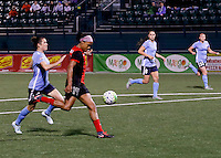 Rochester, NY - May 21, 2016: Western New York Flash forward Jessica McDonald (14) during a National Women's Soccer League (NWSL) match at Sahlen's Stadium. The Western New York Flash go on to win 5-2.