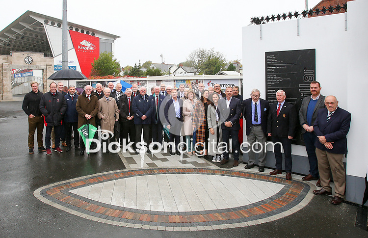10th October 2019 | Syd Millar Pathway<br /> <br /> Syd Millar and friends during the official opening of the Syd Millar Pathway at Kingspan Stadium, Ravenhill Park, Belfast, Northern Ireland. Photo by John Dickson / DICKSONDIGITAL