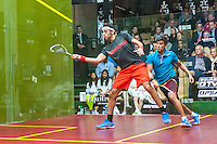 Mohamed Elshorbagy (EGY) vs. Saurav Ghosal (IND) in the quarterfinals of the 2014 METROsquash Windy City Open held at the University Club of Chicago in Chicago, IL on March 1, 2014