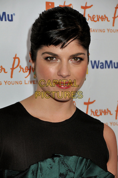 "SELMA BLAIR .11th Annual Trevor Project's ""Cracked XMas"" Benefit at the Wiltern Theatre, Los Angeles, CA, USA, 7th December 2008..portrait headshot fringe hair up  black green  .CAP/ADM/BP.©Byron Purvis/Admedia/Capital PIctures"