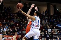GRONINGEN - Basketbal, Donar - Feyenoord,  beker ,seizoen 2019-2020, 22-01-2020,  overgespeelde bekerwedstrijd, Donar speler Leon Williams op weg naar score
