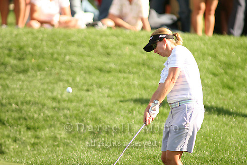 Apr. 1, 2006; Rancho Mirage, CA, USA; Karrie Webb chips on to the green during the 3rd round of the Kraft Nabisco Championship at Mission Hills Country Club. ..Mandatory Photo Credit: Darrell Miho.Copyright © 2006 Darrell Miho .