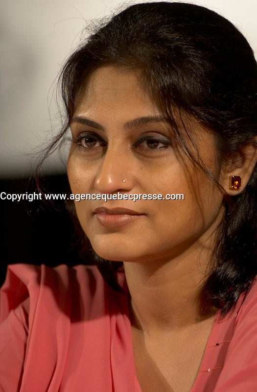 August 29,  2003, Montreal, Quebec, Canada<br /> <br /> Rupa Ganguli, actress<br /> at the Press conference for the movie IN THE FOREST... AGAIN<br />  presented in the official competition of the 2003 World Film Festival<br /> <br /> The Festival runs from August 27th to september 7th, 2003<br /> <br /> <br /> Mandatory Credit: Photo by Pierre Roussel- Images Distribution. (&copy;) Copyright 2003 by Pierre Roussel