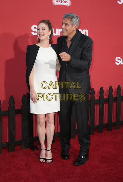 WESTWWOD, CA - October 22: George Clooney, Julianne Moore, At The Premiere Of Paramount Pictures' 'Suburbicon' At the Village Theatre California on October 22, 2017. <br /> CAP/MPI/FS<br /> &copy;FS/MPI/Capital Pictures
