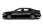 Car driver side profile view of a 2019 Toyota Avalon Touring 4 Door Sedan