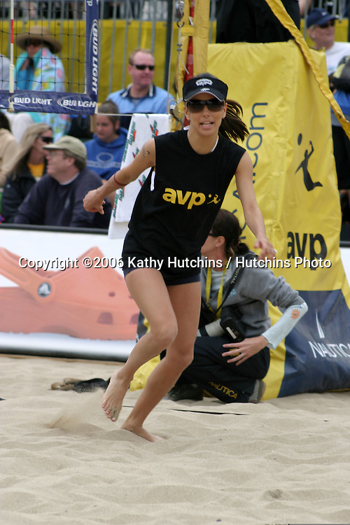 """Eva Longoria.""""Spike for Hope"""" Celebrity Volleyball Match.To benefit the Padres Foundation.During Break at the AVP Pro Vollyball Tournament.To benefit the Padres Foundation.Hermosa Beach, CA.May 20, 2007.©2006 Kathy Hutchins / Hutchins Photo...."""