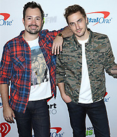 LOS ANGELES - NOVEMBER 30:  Dustin Belt and Kendall Schmidt at the KIIS FM's Jingle Ball 2018 Presented By Capital One on November 30, 2018 at the Forum in Los Angeles, California. (Photo by Scott Kirkland/PictureGroup)