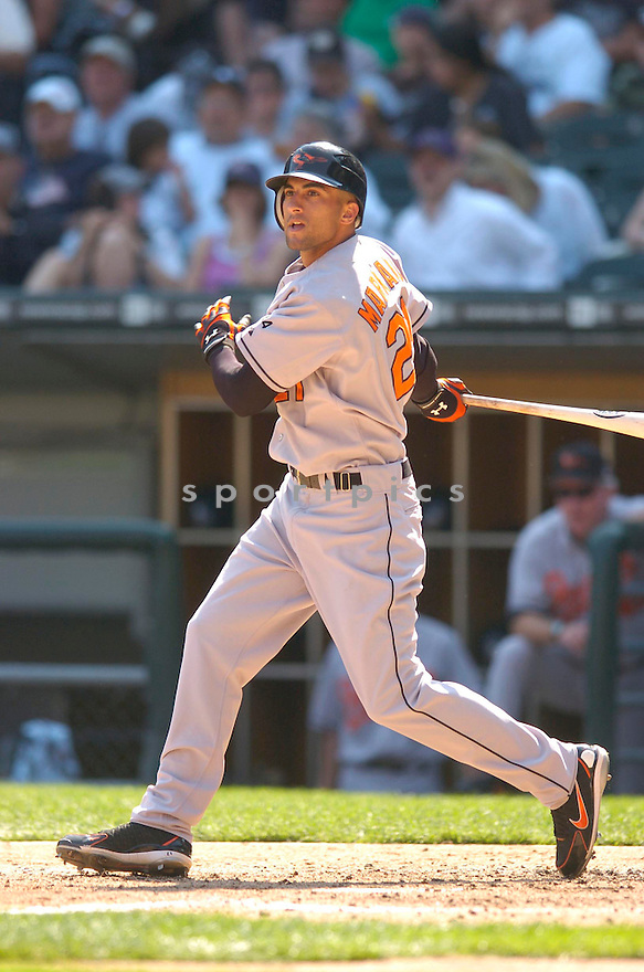 Nick Markakis, of the Baltimore Orioles, during their game against the Chicago White Sox on July 4, 2006 in Chicago.....Chris Bernacchi / SportPics