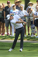Justin Rose (ENG) plays his 2nd shot on the 2nd hole during Saturday's Round 3 of the WGC Bridgestone Invitational 2017 held at Firestone Country Club, Akron, USA. 5th August 2017.<br /> Picture: Eoin Clarke | Golffile<br /> <br /> <br /> All photos usage must carry mandatory copyright credit (&copy; Golffile | Eoin Clarke)