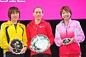 (L to R) Yoshimi Ozaki (JPN), Mayorova Albina (RUS), Remi Nakazato (JPN),.MARCH 11, 2011 - Marathon : Nagoya Women's Marathon 2012 Start & Goal at Nagoya Dome, Aichi, Japan. (Photo by Jun Tsukida/AFLO SPORT)[0003].
