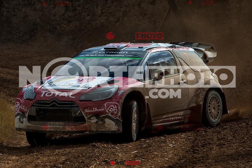 MEEKE Kris / NAGLE Paul (CITROËN DS3 WRC) during the World Rally Car RACC Catalunya Costa Dourada 2016 / Rally Spain, in Catalunya, Spain. October 15, 2016. (ALTERPHOTOS/Rodrigo Jimenez) NORTEPHOTO.COM