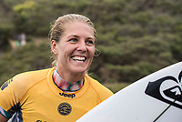 BELLS BEACH, Victoria/AUS (Monday, April 17, 2017) Stephanie Gilmore (AUS)  - The Rip Curl Pro Bells Beach, Stop No. 3 of the World Surf League (WSL) Championship Tour (CT), was been called ON in four-to-six foot (1 - 2 metre) conditions at the world-renowned Bells Beach. Up first will be the remaining five heats of men&rsquo;s Round 3, followed by the women&rsquo;s Quarterfinals, semi's and final. Defending event winner Courtney Conlogue (USA) claimed her second Bell's bell by defeating Stephanie Gilmore (AUS) in the 40 minute final. Gilmore retains the rating lead and while be wearing he yellow leaders jersey when the tour moves to Brazil.<br /> Photo: joliphotos.com