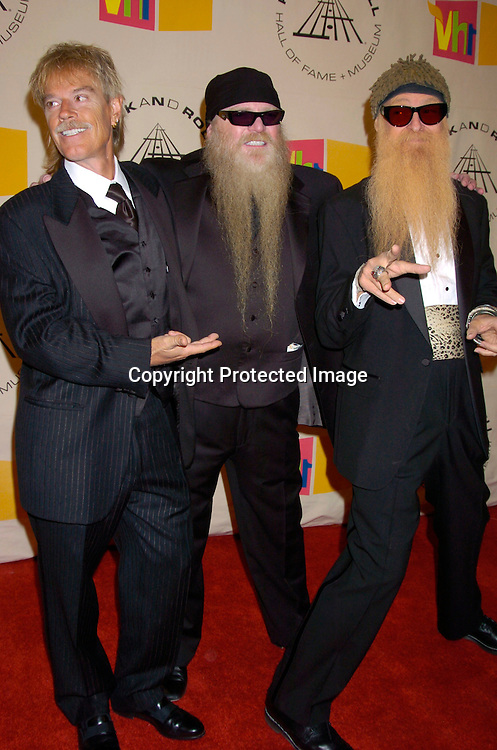 ZZ Tops..at the 2004 Rock and Roll Hall of Fame Award Ceremony on March 15, 2004 at the Waldorf Astoria Hotel in New York City. Photo by Robin Platzer, Twin Images