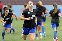 Houston, TX - Wednesday June 28, 2017: Natasha Dowie warming up during a regular season National Women's Soccer League (NWSL) match between the Houston Dash and the Boston Breakers at BBVA Compass Stadium.